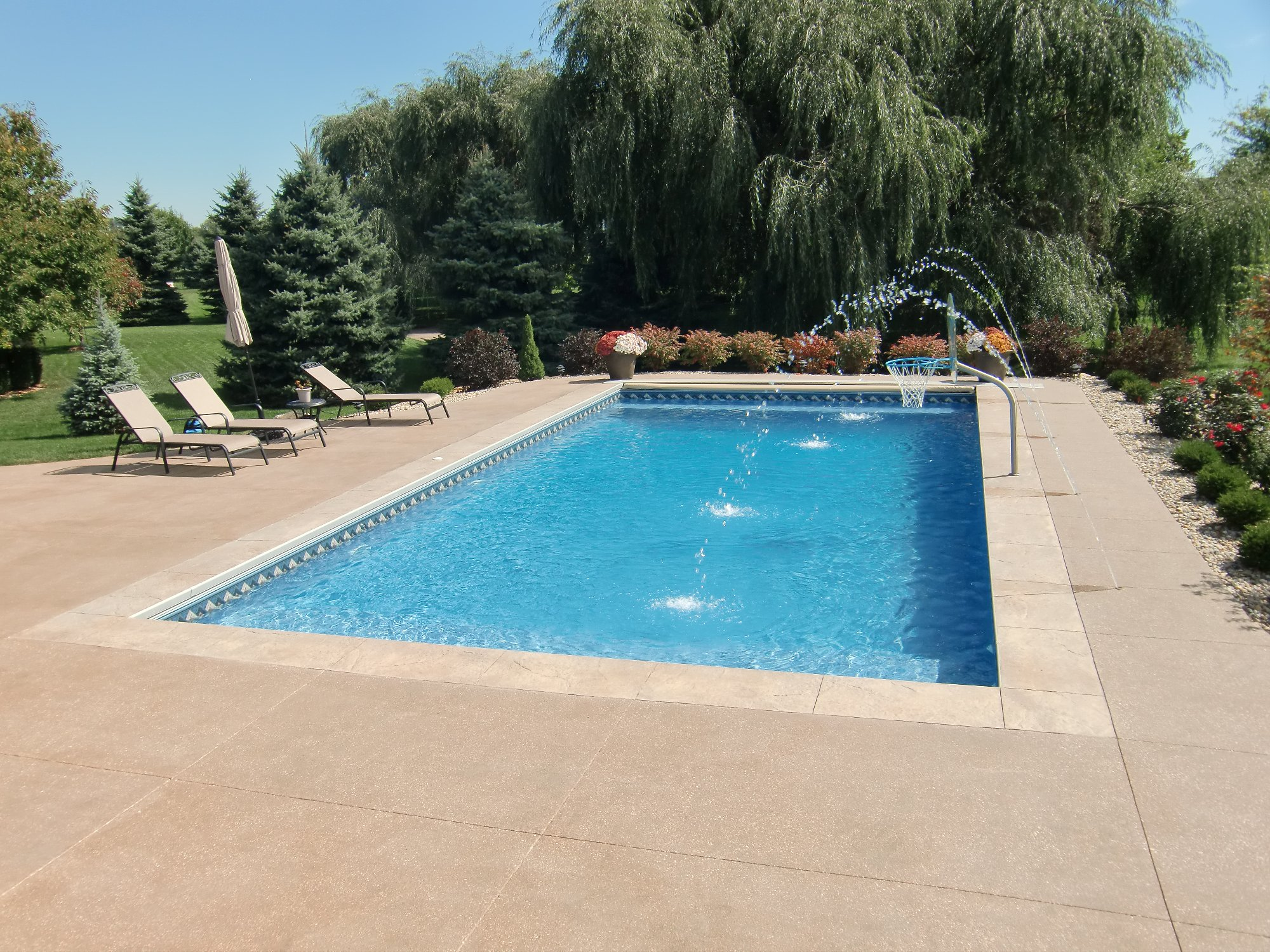 Rectangle Sand Matrix Vinyl Liner Indianapolis