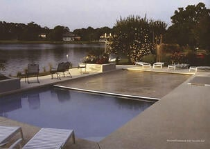 indiana inground pool with automatic pool cover