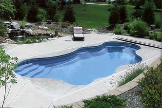 inground fiberglass pool in Indianapolis