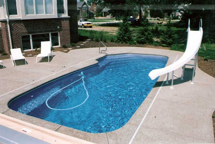 Carmel Pool with Slide Indianapolis