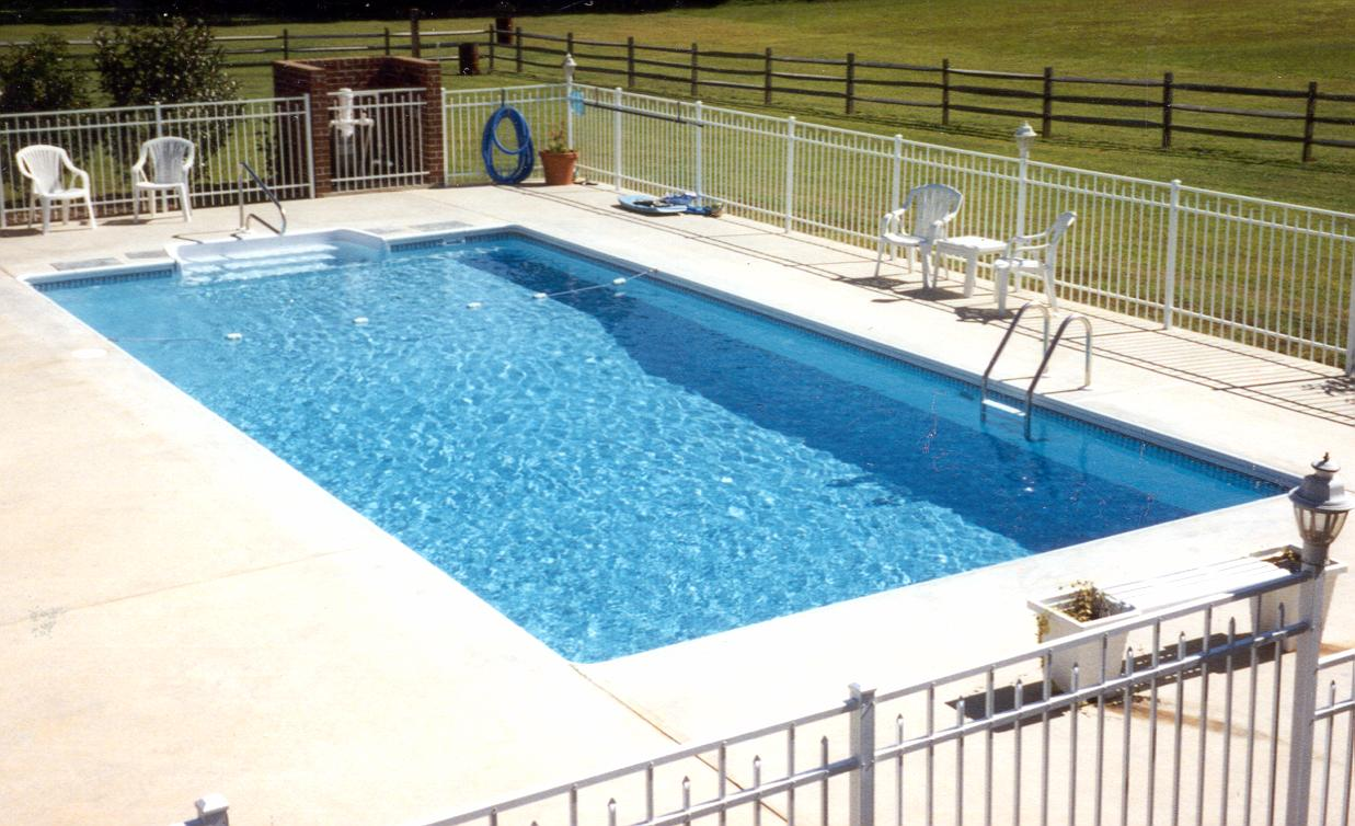 ... Pool Steps For Inground Pools Corner Wedding Cake Rectangle End Steps  Vinyl Liner Indianapolis ...